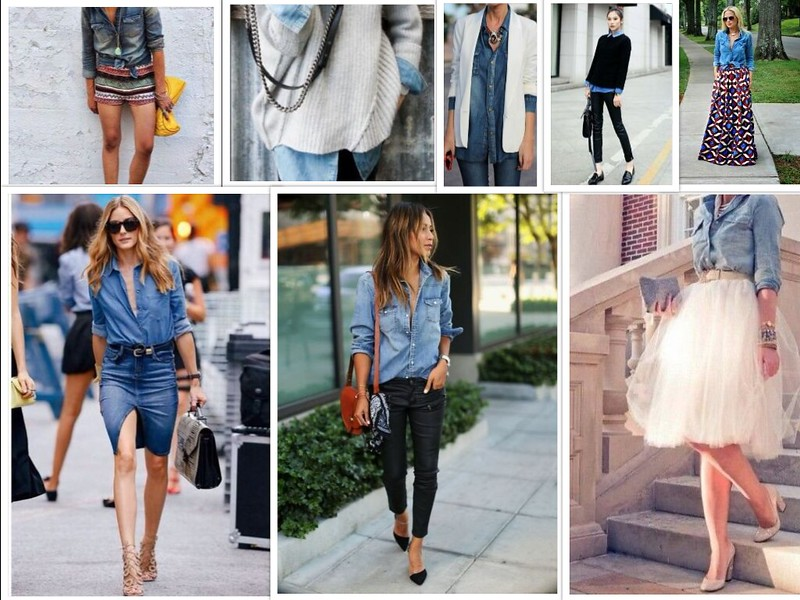 collageCamicia Jeans