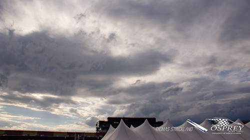 fsae fsaemichigan formulasae mis michigan michiganinternationalspeedway ospreynation ospreyracing unf universityofnorthflorida clouds competition day outside sky