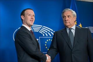 Facebook CEO Mark Zuckerberg at the EP | by European Parliament