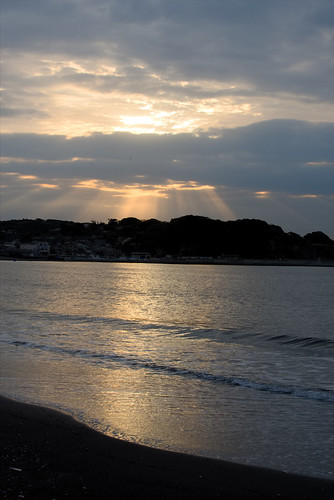 enoshima view landscape sunrise beach