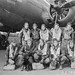 The crew of the Boeing B-17 Flying Fortress 'Invasion II' is pictured in front of their bomber in England, March 12, 1943. Director William Wyler had been filming the missions of the B-17F of the 401st Bomb Squadron of the 91st Bomb Group and its crew as they drew closer to completing 25 missions and rotating back to the U.S. However, on April 17, 1943, the reality of war spoiled the Hollywood ending during their 23rd mission to Bremen, Germany. Invasion II crashed after being hit by flak over Borhmen, Germany, setting the cockpit and wing on fire. The crew managed to bail out, but all became prisoners of war. (U.S. Army Air Forces photo)