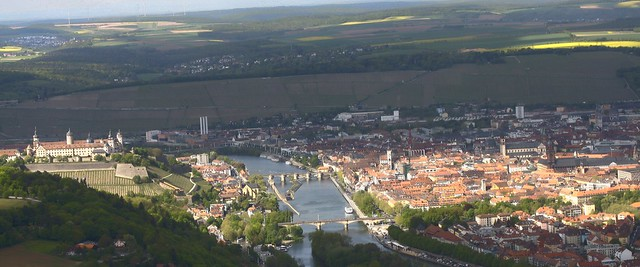 Würzburg with the fortress Marienberg and Old Main bridge