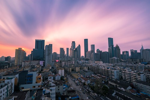 skyline sunset longexposure city cityscape aerial urban spring nanjing sky cloud skyscraper architecture building tall landmark landscape nikon nikond800 tamronsp1530f28