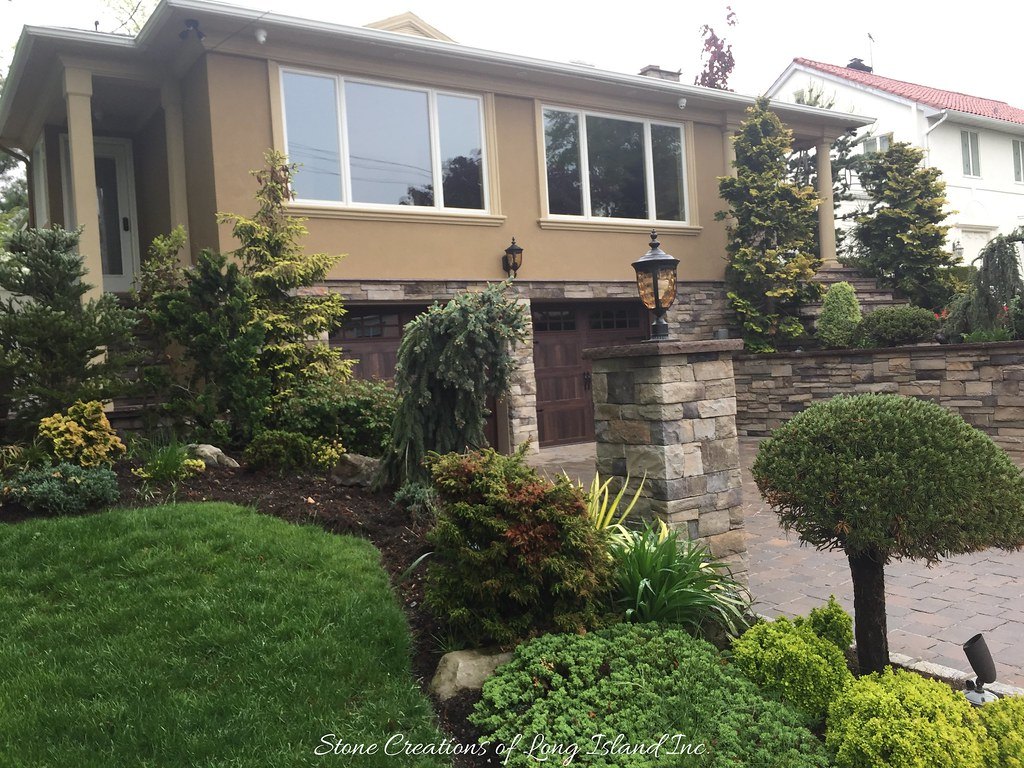 Stone Veneer - Stucco - Home Improvements | Whitestone, NY… | Flickr
