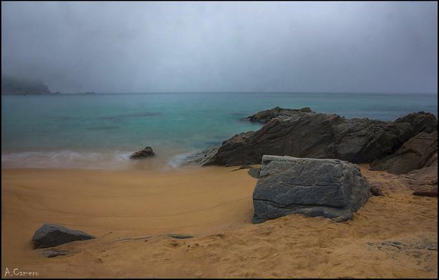 Niebla en el mar.