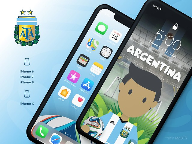 Team Argentina iPhone Wallpaper
