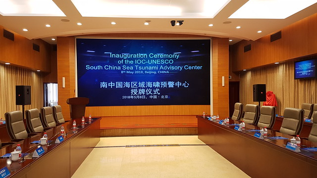 Launch of the South China Sea Tsunami Advisory Centre, 8 May 2018