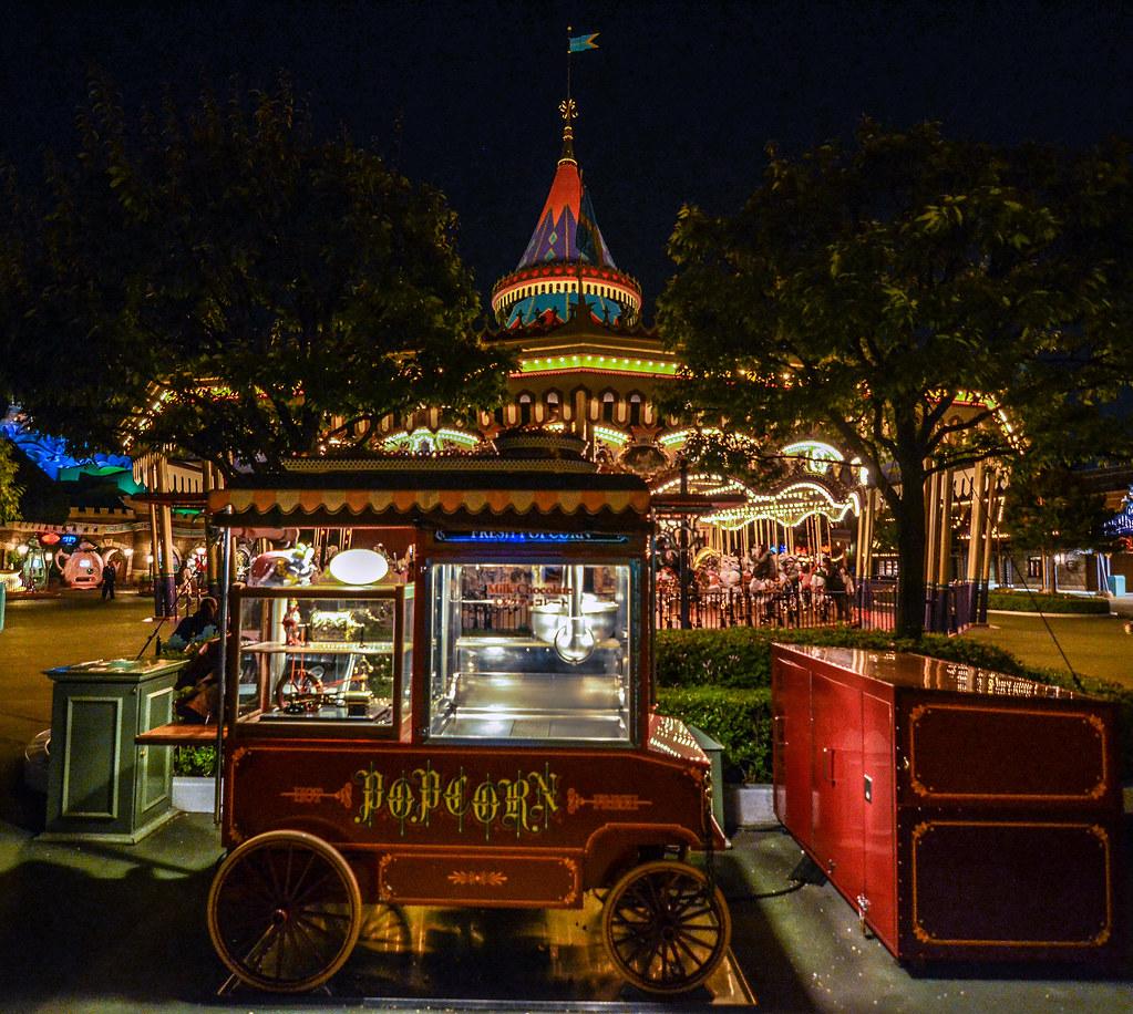 Popcorn cart carousel TDL