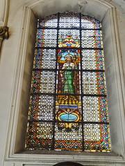 vidriera interior Basilica iglesia San Cristobal Charleroi Belgica 10