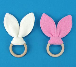 Baby Teething Rings with Rabbit Ears (Baby Bijtringen met Konijnenoren)