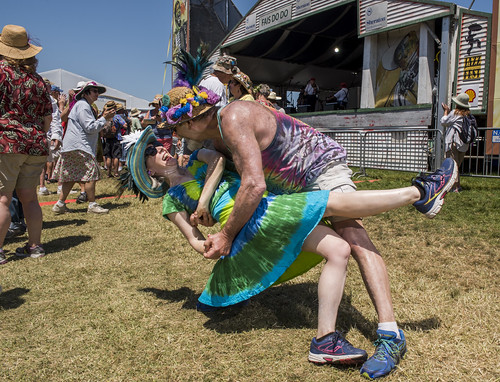 Dancing and dipping at Fais Do Do Jazz Fest 2018 day 3 on April 29, 2018. Photo by Ryan Hodgson-Rigsbee RHRphoto.com