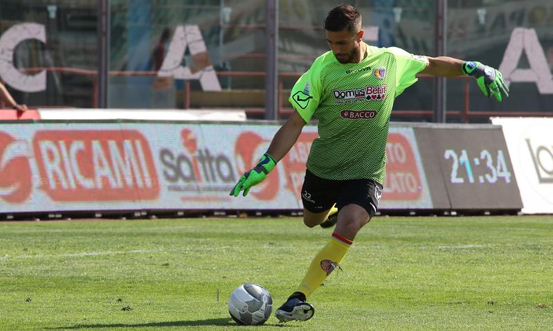 Martinez durante Catania-Rende del 2017/18