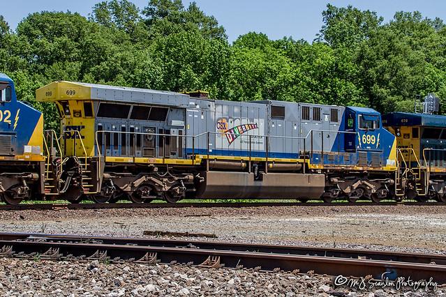 CSX 699 | GE AC6000CW | UP Memphis Subdivision