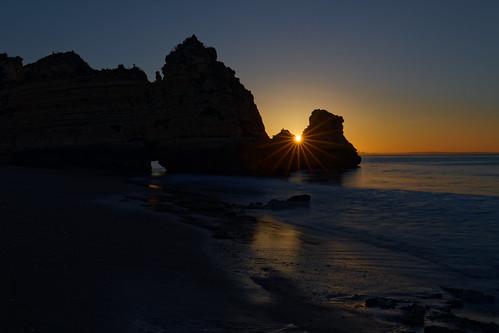 algarve portugal sunrise dawn sun sescape ocean atlantic longexpoure coast sea dslr fullframe 5d canon