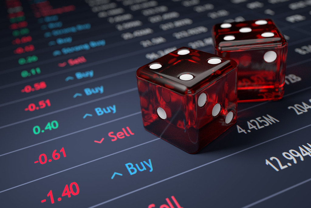 Stock market dice roll | Concept image showing stock market … | Flickr