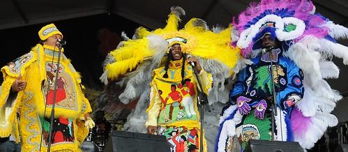 Big Chief Bo Dollis Jr. & The Wild Magnolias on the Jazz & Heritage Stage. Photo by Black Mold.