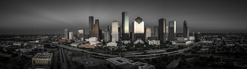 dji houston houstonstock phantompro4 usa unitedstatesofamerica aerial buildings dark downtown image memorial moody photo skyline sunset f32 mabrycampbell april 2018 april222018 20180422downtowncampbelldji0138pano 88mm ¹⁄₄₀sec 100 24mm fav10 fav20 fav30 fav40 fav50