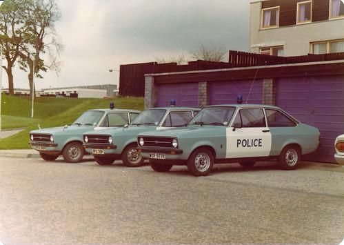 Ford Escort IIs PSX 988P,PFS 719P & WSF 977R 'ZH F18,19 & 17',Lothian & Borders Police,Livingston 1977   by landshark2084