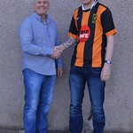 Manager Charlie Charlesworth welcomes Darren Wood back to the club