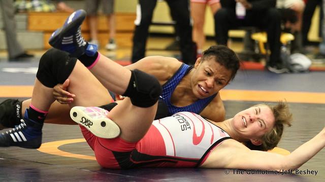 55 kg: Jacarra Winchester (Sunkist Kids) vs. Dominique Parrish (Sunkist Kids). 180519BJF0132