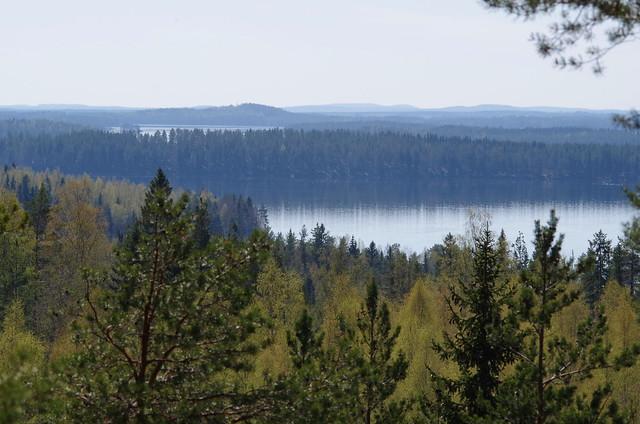 A view from Tonkkurinmäki, Kuopio, Finland
