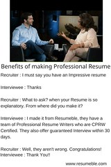 Benefits of making a Professional Resume