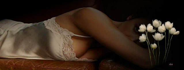 I love white silk lingerie