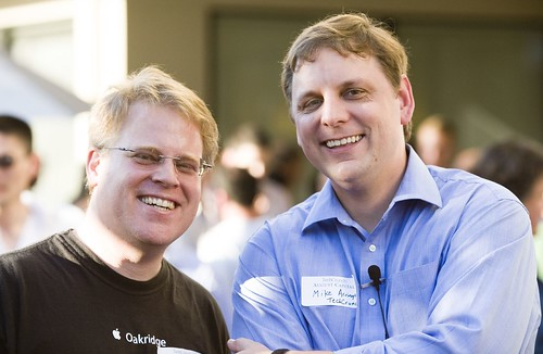 Super Blogger Robert Scoble with the Man of the Hour Mike Arrington | by Thomas Hawk