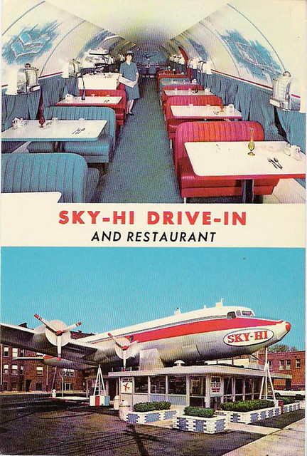 Sky Hi Drive In And Restaurant Chicago Illinois C 1960s