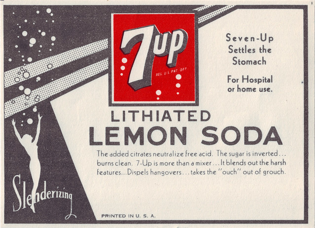 Takes The Quot Ouch Quot Out Of Grouch Seven Up Bottle Label