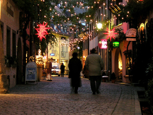 Freiburg, Germany: Early Winter Couple in Lights | by David G...