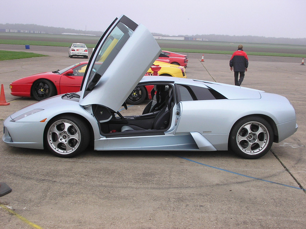 Scissor Doors Open On A Lamborghini Murcielago At Brunting Flickr