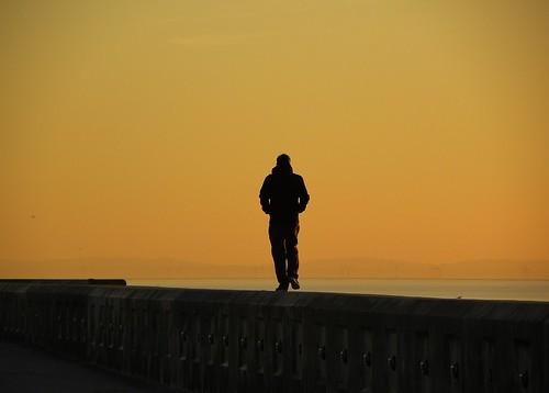 europe england lancashire outdoor blackpool sunlight silhouette sunset