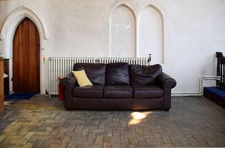 comfy leather sofa