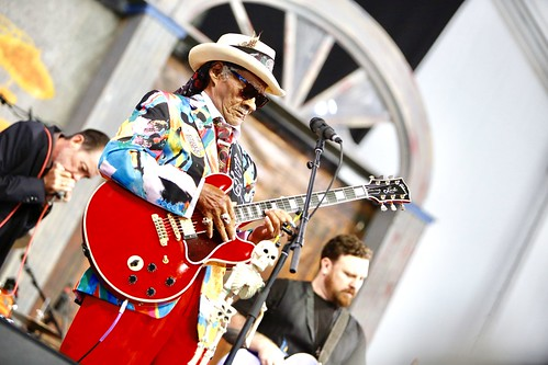 Little Freddie King in the Blues Tent. Photo by Michele Goldfarb.