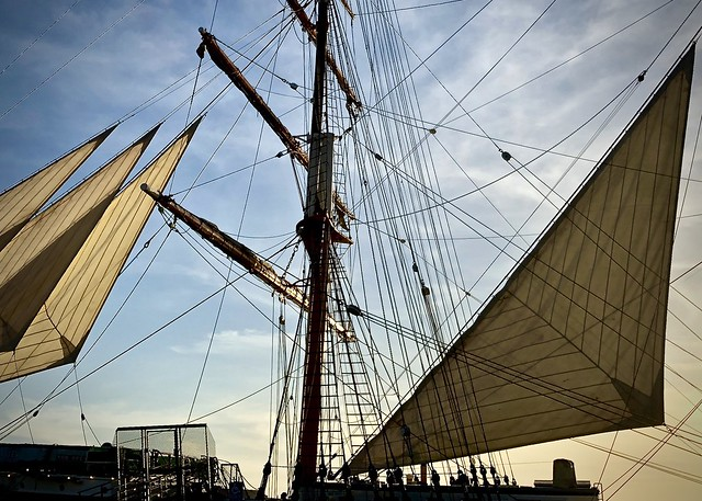 Tall ship, late afternoon, San Diego Harbor