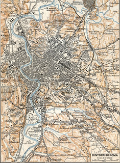 Cartina D Roma.Mappa Di Roma Del 1925 Mappa Realizzata Dal Touring Club I Flickr