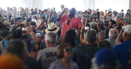 James Andrews in Blues Tent on Day 5 of Jazz Fest - 5.4.18. Photo by Leon Morris.