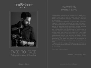 Face to Face with Patrick Saad | by Alejandro Calore (REAL&SHORT® owner)