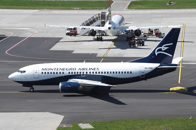 Montenegro Airlines Boeing 737-500; 9H-OME@ZRH;07.05.2018