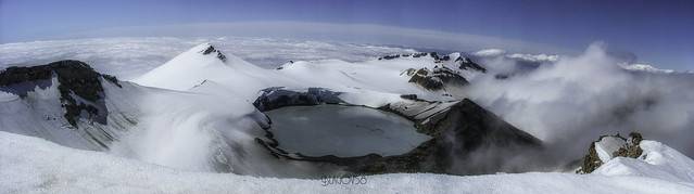 Mount Ruapehu Crater Lake. New Zealand. 2006