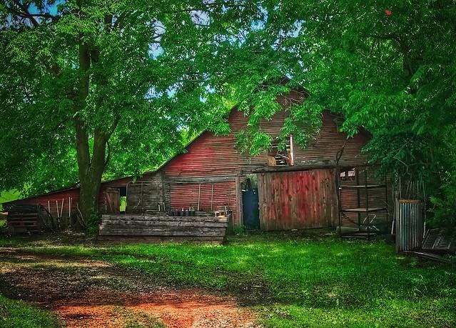 The old milk barn.....