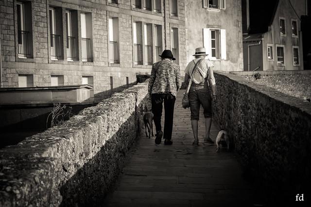 duo sur les remparts de St Malo