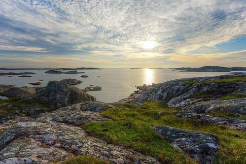 gothenburg västragötalandcounty sweden vrångö skärgård archipelago göteborg sverige clouds sky sun ocean sea island islands rocks cliffs canoneos6d canonef1740mmf4lusm