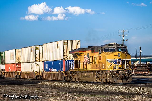 UP 7711   GE C45CCTE   UP Cheyenne Yard
