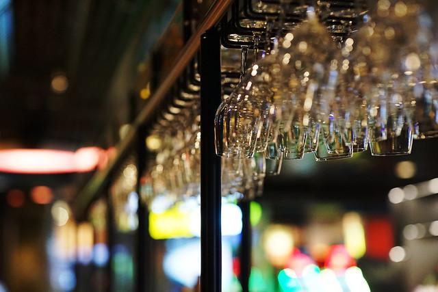 Wine glasses at Tolv