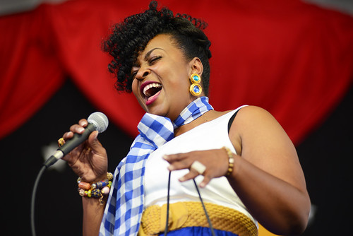 Quiana Lynell on Day 3 of Jazz Fest - April 29, 2018. Photo by Leon Morris.
