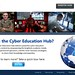 Proposed landing page for the Cyber Education Hub, which is being developed at the Center for Cyberspace Research in the Air Force Institute of Technology at Wright Patterson Air Force Base, Ohio. The online site is a platform for multimedia cyber education content geared to cyber experts and Airmen seeking knowledge of how cyber applies to their career fields. (Photo / AFIT CCR)