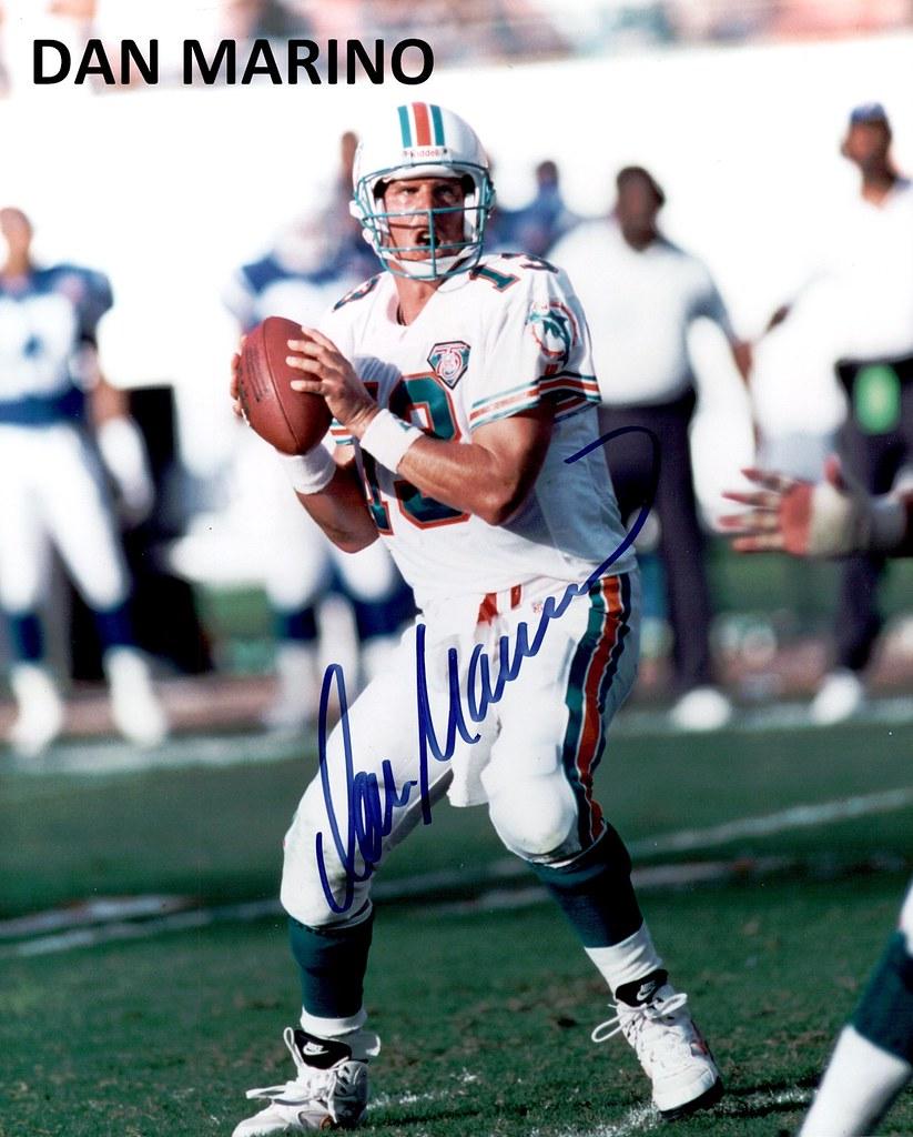 buy online d4006 44add Dan Marino signed autograph photo football player | Ken ...