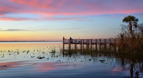lake washington melbourne florida sunset sunrise dock pier nikon space coast brevard county sky skies cielos cielo nubes clouds park